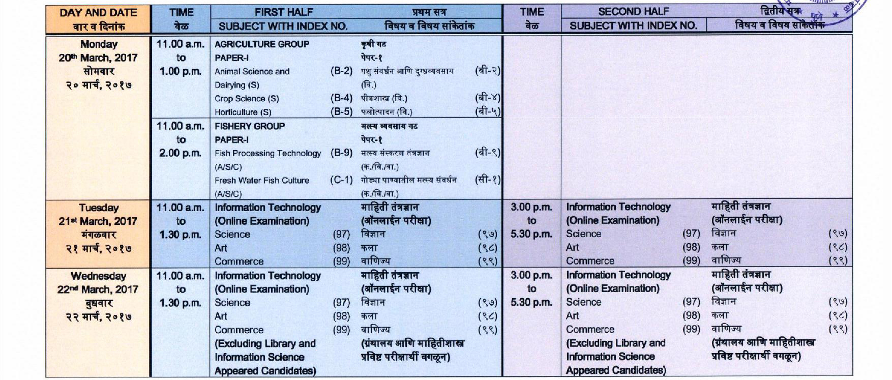 Time table Of 80 Board exam 2019 rbse class 10