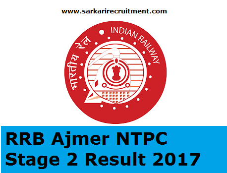 RRB Ajmer Results
