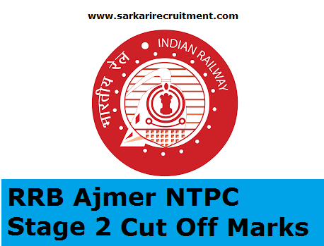 RRB Ajmer Cut Off Marks