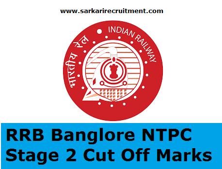 RRB Bangalore Cut Off Marks