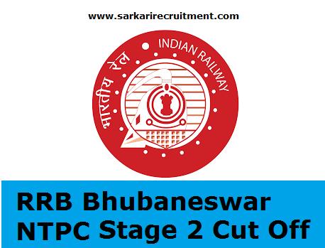 RRB Bhubaneswar Cut Off Marks