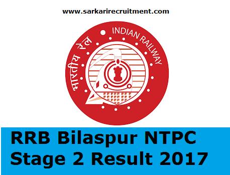RRB Bilaspur Results