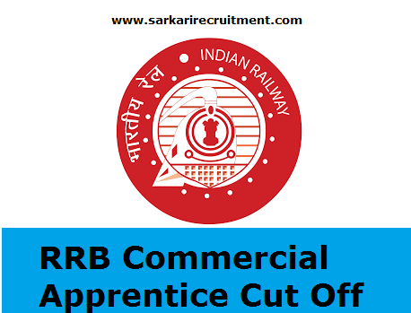 RRB Commerical Apprentice Cut Off