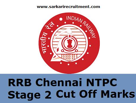 RRB Chennai Cut Off Marks