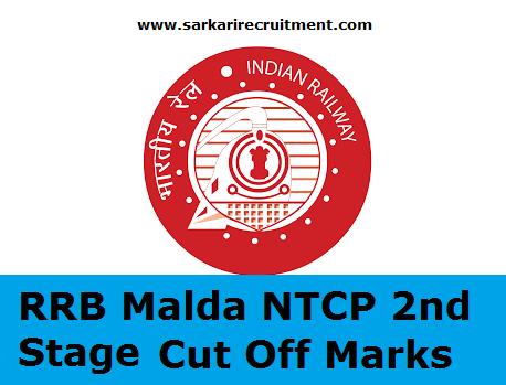 RRB Malda Cut Off Marks
