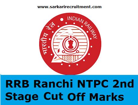 RRB Ranchi Cut Off Marks