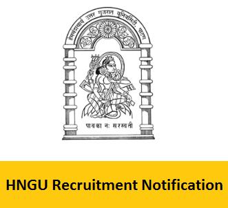 HNGU Recruitment Notification 2017