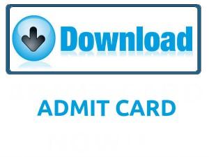 CG UAD Lecturer Admit Card