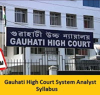Gauhati High Court System Analyst Syllabus