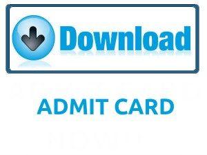 CGWB Upper Division Clerk Admit Card