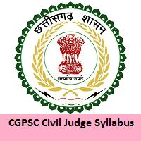 CGPSC Civil Judge Syllabus