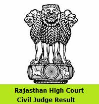 Rajasthan High Court Civil Judge Result