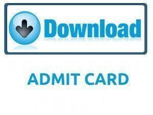 CGPSC Forest Service Admit Card