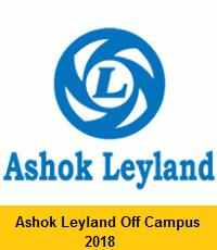 Ashok Leyland Off Campus 2018