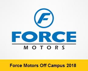 Force Motors Off Campus 2018