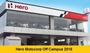 Hero Motocorp Off Campus 2018 Drive For Freshers - BE, B Tech, ME, M