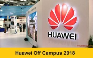 Huawei Off Campus 2018