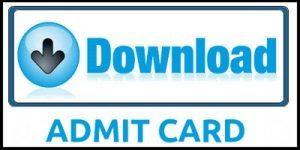 CG Pre B.Ed Admit Card