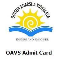 OAVS Admit Card