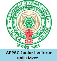 APPSC Junior Lecturer Hall Ticket