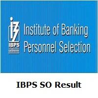 IBPS SO Result