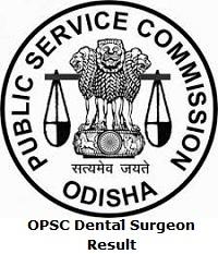 OPSC Dental Surgeon Result