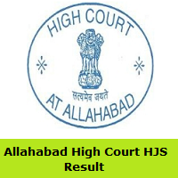 Allahabad High Court HJS Result