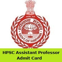 HPSC Assistant Professor Admit Card