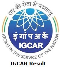 IGCAR Result