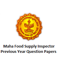 Maha Food Supply Inspector Previous Year Question Papers