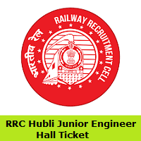 RRC Hubli Junior Engineer Hall Ticket