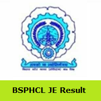 BSPHCL JE Result