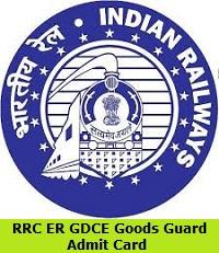 RRC ER GDCE Goods Guard Admit Card