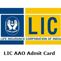 LIC AAO Admit Card