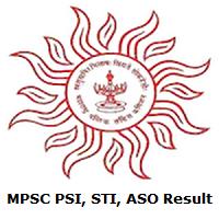 MPSC PSI, STI, ASO Result