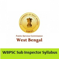 WBPSC Sub Inspector Syllabus