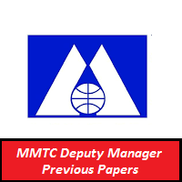 MMTC Deputy Manager Previous Papers