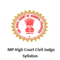 MP High Court Civil Judge Syllabus