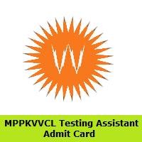 MPPKVVCL Testing Assistant Admit Card