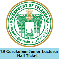 TS Gurukulam Junior Lecturer Hall Ticket