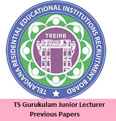 TS Gurukulam Junior Lecturer Previous Papers