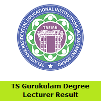 TS Gurukulam Degree Lecturer Result