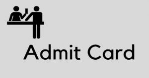 CG High Court Stenographer Admit Card