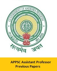 APPSC Assistant Professor Previous Papers