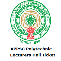 APPSC Polytechnic Lecturers Hall Ticket