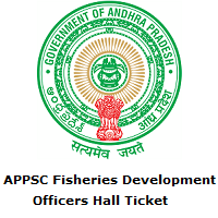 APPSC Fisheries Development Officers Hall Ticket