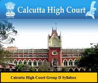 Calcutta High Court Group D Syllabus