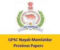 GPSC Nayab Mamlatdar Previous Papers