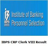 IBPS CRP Clerk VIII Result