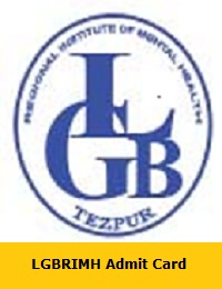 LGBRIMH Admit Card